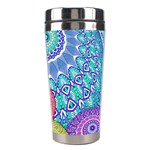 India Ornaments Mandala Balls Multicolored Stainless Steel Travel Tumblers Right