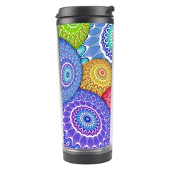 India Ornaments Mandala Balls Multicolored Travel Tumbler