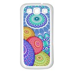 India Ornaments Mandala Balls Multicolored Samsung Galaxy S3 Back Case (White) Front