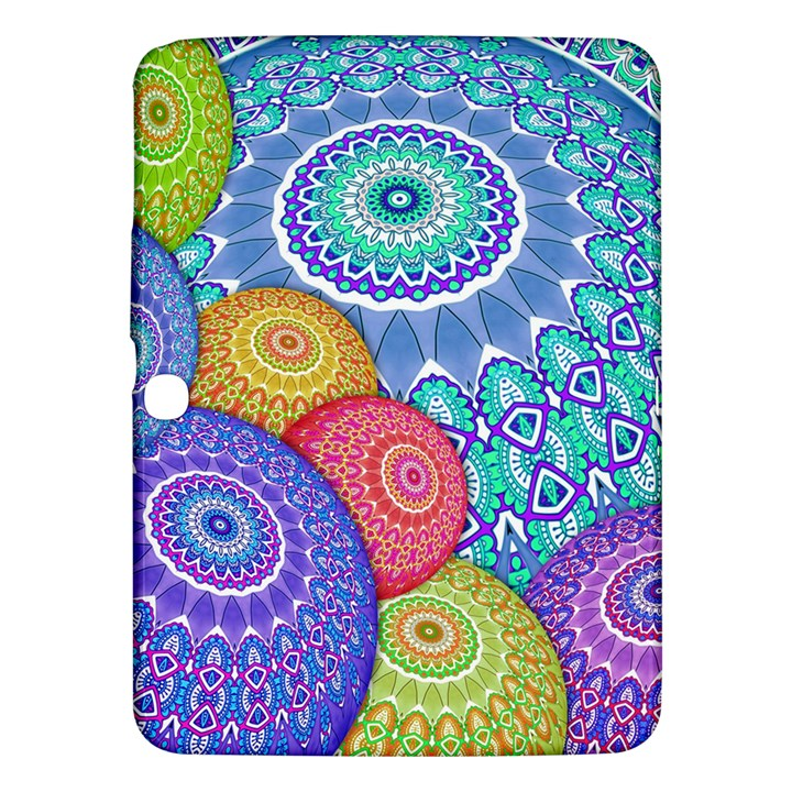 India Ornaments Mandala Balls Multicolored Samsung Galaxy Tab 3 (10.1 ) P5200 Hardshell Case