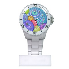 India Ornaments Mandala Balls Multicolored Plastic Nurses Watch