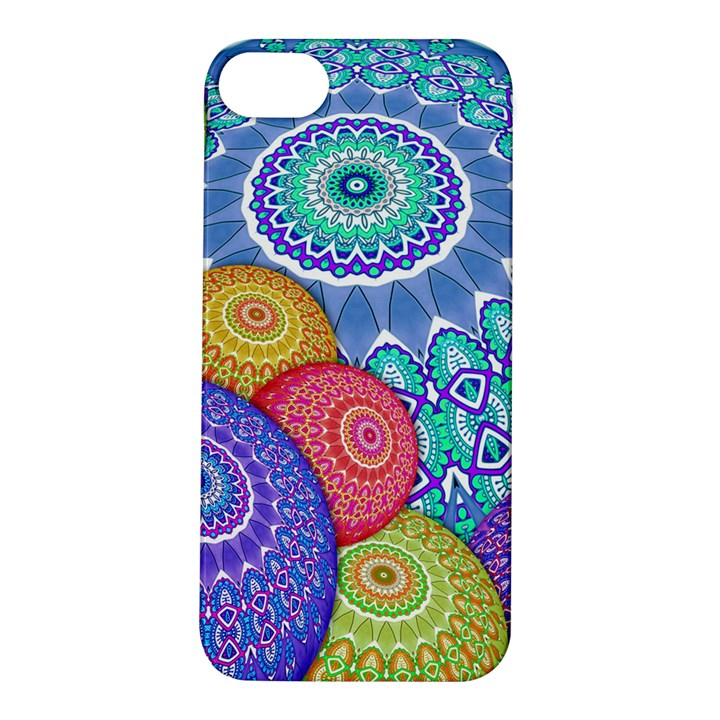 India Ornaments Mandala Balls Multicolored Apple iPhone 5S/ SE Hardshell Case