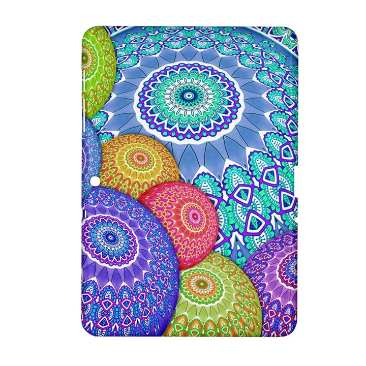 India Ornaments Mandala Balls Multicolored Samsung Galaxy Tab 2 (10.1 ) P5100 Hardshell Case