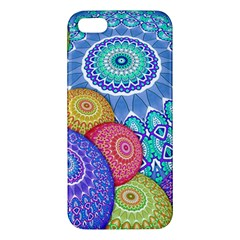 India Ornaments Mandala Balls Multicolored iPhone 5S/ SE Premium Hardshell Case