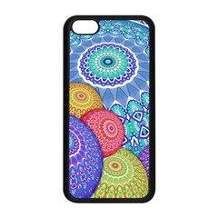 India Ornaments Mandala Balls Multicolored Apple iPhone 5C Seamless Case (Black)