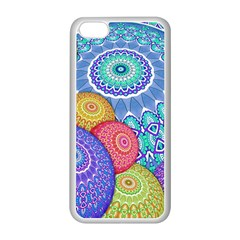 India Ornaments Mandala Balls Multicolored Apple iPhone 5C Seamless Case (White)