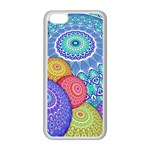 India Ornaments Mandala Balls Multicolored Apple iPhone 5C Seamless Case (White) Front