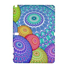 India Ornaments Mandala Balls Multicolored Samsung Galaxy Note 10.1 (P600) Hardshell Case
