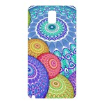 India Ornaments Mandala Balls Multicolored Samsung Galaxy Note 3 N9005 Hardshell Back Case Front