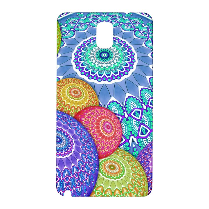 India Ornaments Mandala Balls Multicolored Samsung Galaxy Note 3 N9005 Hardshell Back Case