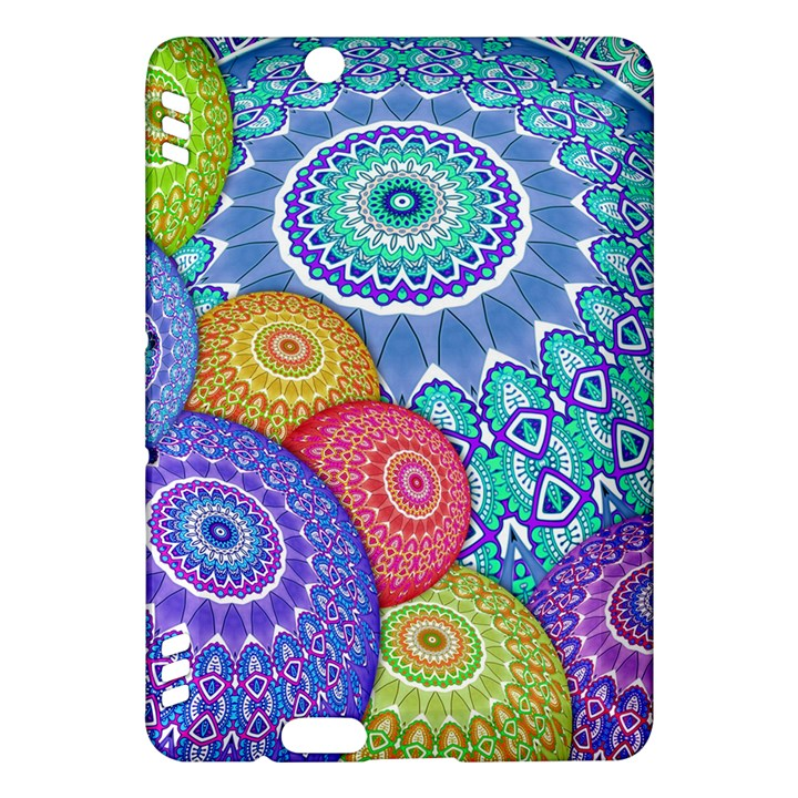 India Ornaments Mandala Balls Multicolored Kindle Fire HDX Hardshell Case