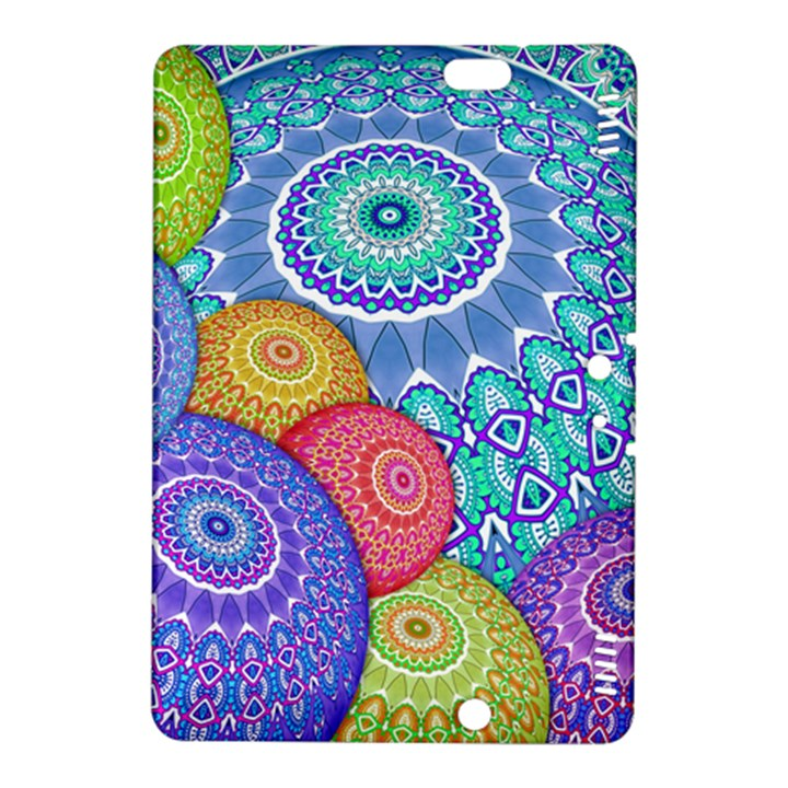 India Ornaments Mandala Balls Multicolored Kindle Fire HDX 8.9  Hardshell Case