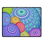 India Ornaments Mandala Balls Multicolored Double Sided Fleece Blanket (Small)  50 x40 Blanket Back