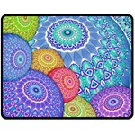 India Ornaments Mandala Balls Multicolored Double Sided Fleece Blanket (Medium)  60 x50 Blanket Back