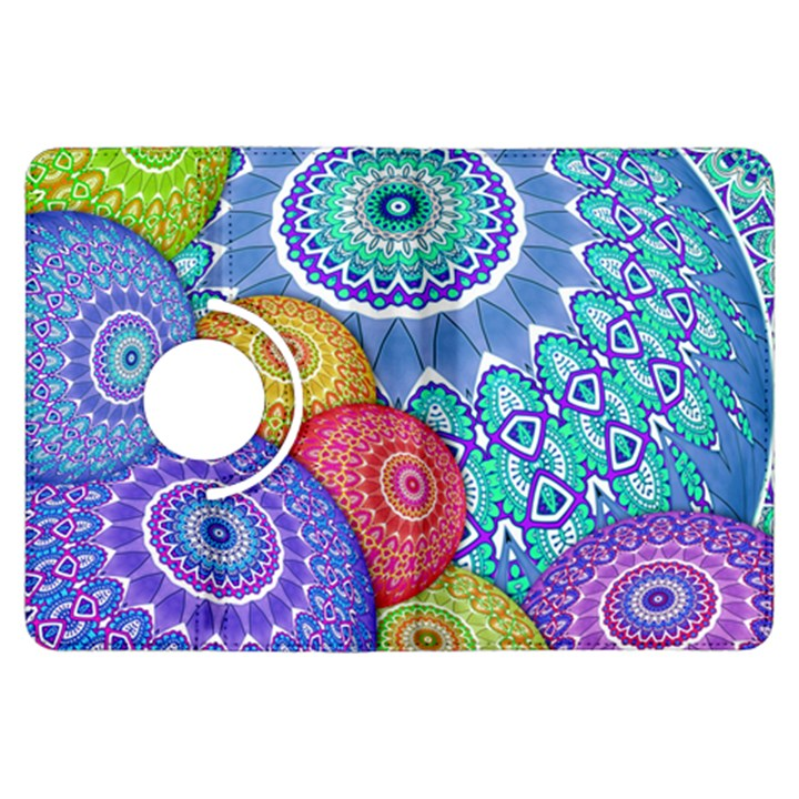 India Ornaments Mandala Balls Multicolored Kindle Fire HDX Flip 360 Case