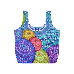 India Ornaments Mandala Balls Multicolored Full Print Recycle Bags (S)