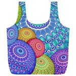 India Ornaments Mandala Balls Multicolored Full Print Recycle Bags (L)  Back