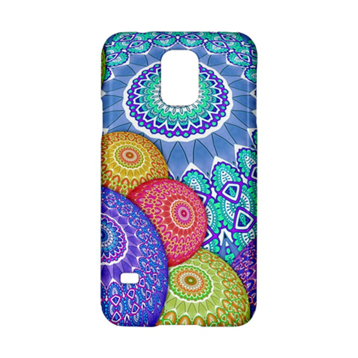 India Ornaments Mandala Balls Multicolored Samsung Galaxy S5 Hardshell Case