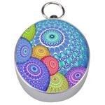 India Ornaments Mandala Balls Multicolored Silver Compasses Front