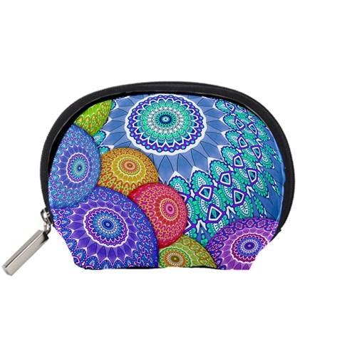 India Ornaments Mandala Balls Multicolored Accessory Pouches (Small)