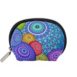 India Ornaments Mandala Balls Multicolored Accessory Pouches (Small)  Front