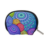 India Ornaments Mandala Balls Multicolored Accessory Pouches (Small)  Back