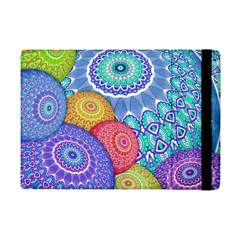 India Ornaments Mandala Balls Multicolored iPad Mini 2 Flip Cases