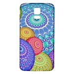 India Ornaments Mandala Balls Multicolored Samsung Galaxy S5 Back Case (White) Front