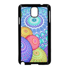 India Ornaments Mandala Balls Multicolored Samsung Galaxy Note 3 Neo Hardshell Case (Black)