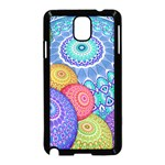 India Ornaments Mandala Balls Multicolored Samsung Galaxy Note 3 Neo Hardshell Case (Black) Front