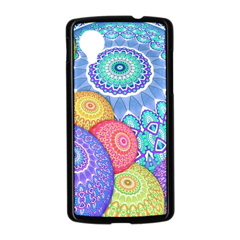 India Ornaments Mandala Balls Multicolored Nexus 5 Case (Black)