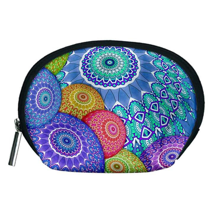 India Ornaments Mandala Balls Multicolored Accessory Pouches (Medium)