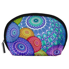 India Ornaments Mandala Balls Multicolored Accessory Pouches (Large)