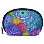 India Ornaments Mandala Balls Multicolored Accessory Pouches (Large)  Front