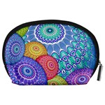 India Ornaments Mandala Balls Multicolored Accessory Pouches (Large)  Back