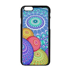 India Ornaments Mandala Balls Multicolored Apple iPhone 6/6S Black Enamel Case