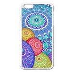 India Ornaments Mandala Balls Multicolored Apple iPhone 6 Plus/6S Plus Enamel White Case Front