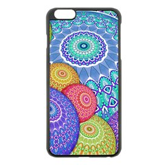 India Ornaments Mandala Balls Multicolored Apple Iphone 6 Plus/6s Plus Black Enamel Case