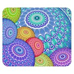 India Ornaments Mandala Balls Multicolored Double Sided Flano Blanket (Small)  50 x40 Blanket Front