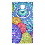 India Ornaments Mandala Balls Multicolored Galaxy Note 4 Back Case Front