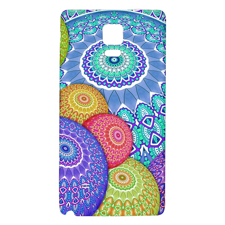 India Ornaments Mandala Balls Multicolored Galaxy Note 4 Back Case