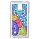 India Ornaments Mandala Balls Multicolored Samsung Galaxy Note 4 Case (White) Front