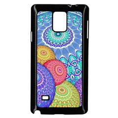 India Ornaments Mandala Balls Multicolored Samsung Galaxy Note 4 Case (Black)
