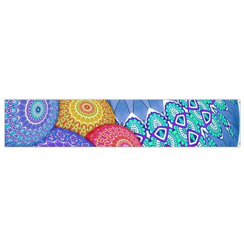 India Ornaments Mandala Balls Multicolored Flano Scarf (Small)