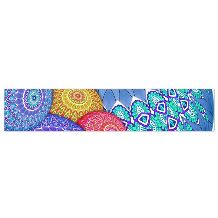 India Ornaments Mandala Balls Multicolored Flano Scarf (Small)
