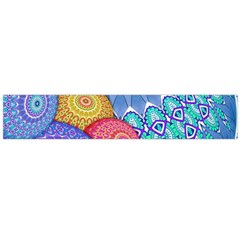 India Ornaments Mandala Balls Multicolored Flano Scarf (Large)