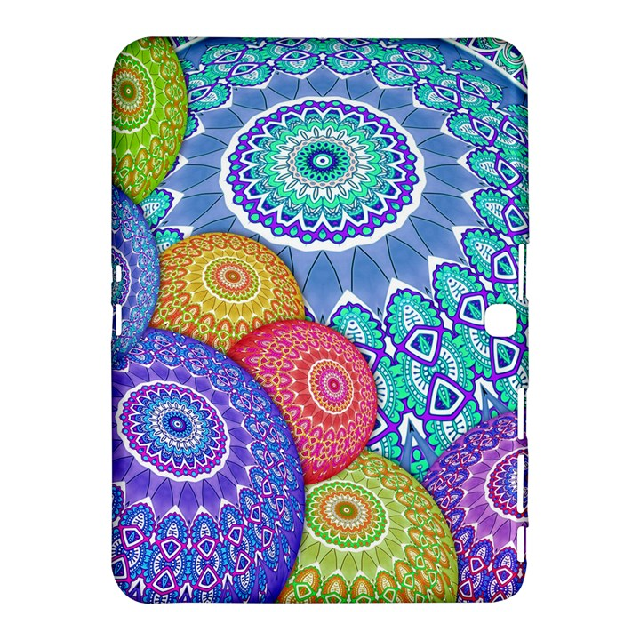 India Ornaments Mandala Balls Multicolored Samsung Galaxy Tab 4 (10.1 ) Hardshell Case