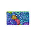 India Ornaments Mandala Balls Multicolored Cosmetic Bag (XS) Front