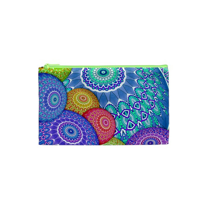 India Ornaments Mandala Balls Multicolored Cosmetic Bag (XS)