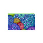 India Ornaments Mandala Balls Multicolored Cosmetic Bag (XS) Back